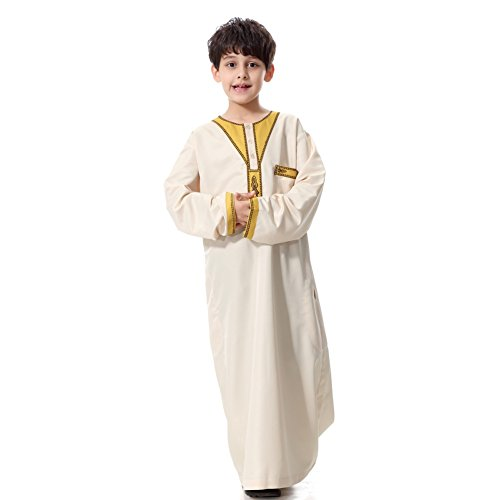 ROMANTIC BEAR Muslim Children 's Kurta - Arabian Middle East Costumes Muslim Robes Ethnic Youth Robes
