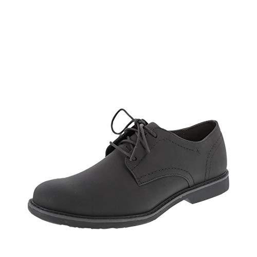 Dexter Smooth Dark Grey Men's Burt Plain-Toe Oxfords 9.5 Regular -