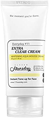 Eleven Huesday Extra Clear Cream for Instant Skin Tone-up with Hyaluronic Acid & Niacinamide - 50 g e 1.76 oz - 10156073 , B01N4X031K , 285_B01N4X031K , 829693 , Eleven-Huesday-Extra-Clear-Cream-for-Instant-Skin-Tone-up-with-Hyaluronic-Acid-Niacinamide-50-g-e-1.76-oz-285_B01N4X031K , fado.vn , Eleven Huesday Extra Clear Cream for Instant Skin Tone-up with Hyal