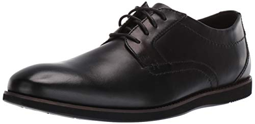CLARKS Men's Raharto Plain Oxford Black Leather 090 M - Shoes Clarks Dress