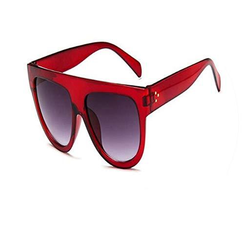 Newest Fashion Square Sunglasses Women Cat Eye Luxury Big Black Sun Glasses Mirror Shades lunette ()