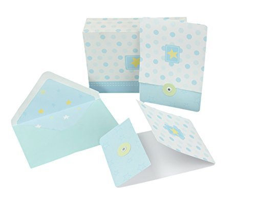 Baby Shower Thank You/Invitation Cards, Envelopes & Keepsake Box (Boy)