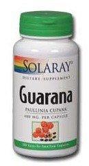 Solaray Guarana Capsules, 400 mg, 100 Count by Solaray