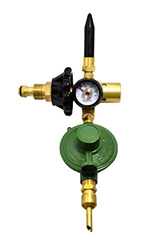 LATEX & MYLAR Balloon Filler Inflator Helium Gas E2802HTG-DV Regulator Brass Body NEW - AUTO ShutOff Valve, Rubber Tilt Valve, Cylinder Content Gauge, Hand Tight Connection
