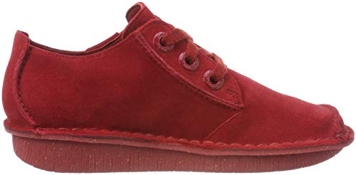 Suede Rosso Funny Scarpe red Clarks Donna Stringate Dream 0Xqw1