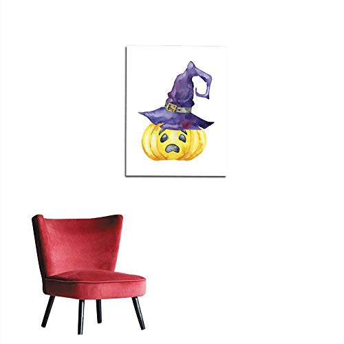 longbuyer Art Decor Decals Stickers Halloween Pumpkin on White Background Mural 16