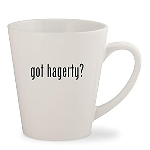 got hagerty? - White 12oz Ceramic Latte Mug Cup - Hagerty Table
