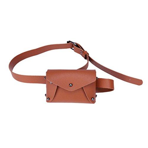 Women Shoulder Pack Bag Winkey Brown Bag Money Mini Beach Chest Leather Pouch Fashion Messenger Bag qUwSUWfxzX