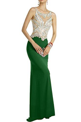 Di Formale Avril Nozze Festa Abito Splendido Abito Prom Spandex Verde Backless Cacciatore Fodero 0I6Rdgwq