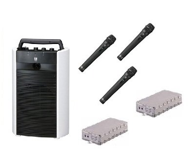 TOA ポータブルアンプ CDSD.USB付/シングル WA-2700SC+WM-1220X3+WTU-1720X2 B015GMYGHY