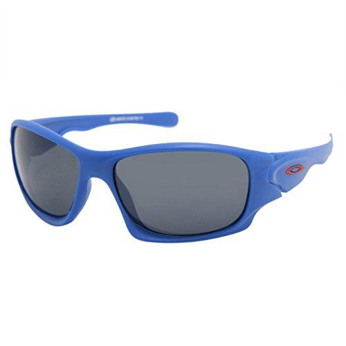 Gansta UV protective Oversize men sunglasses – (GN-11048-Blu-Red 62 Grey Lens)