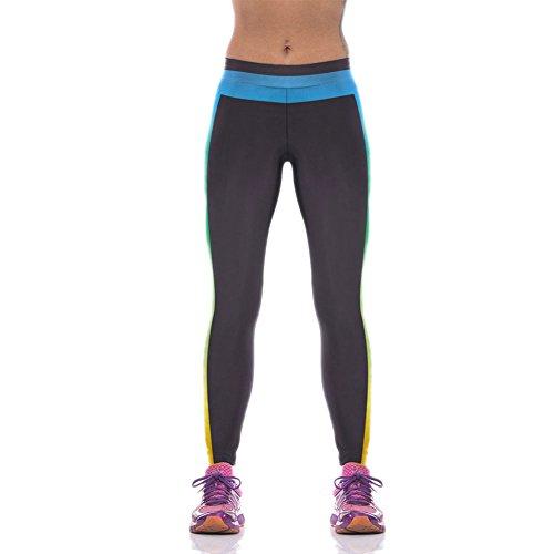 Pinkyee Correr para Mujer Pantalones de deporte negro