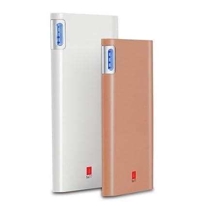 iBall 10000mAh Polymer Battery Portable SLIM Power Bank With Dual USB Port   PLM 10003   White Power Banks