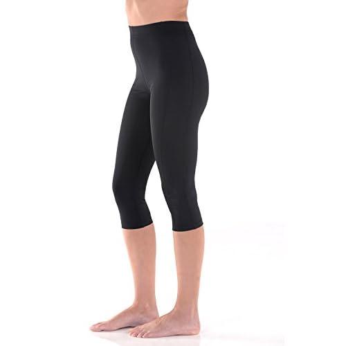 e914c6860b0f8b Sun Protection Swimsuits Women Swim Capri Tights High Waist UV Protection  Swimwear UPF50+ Black
