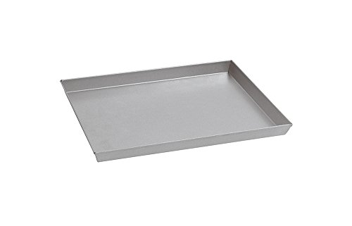 Paderno World Cuisine 11 7/8 Inch by 9 Inch by 1 1/8 Inch Splayed Sided Aluminized Steel Baking Sheet