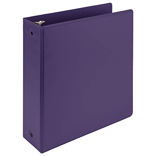 Samsill Earth's Choice Biobased 3 Ring View Binders, 3 Inch Round Ring, Up to 25% Plant Based Plastic, USDA Certified Biobased, Customizable Cover, Purple ()