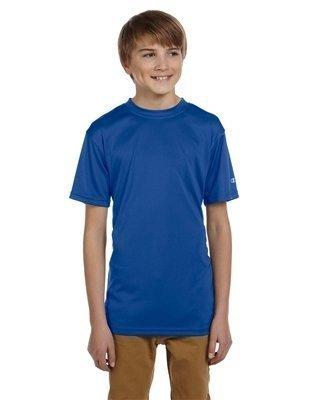 (CW24 Champion Youth Double Dry® Interlock T-Shirt (Royal Blue) (L))