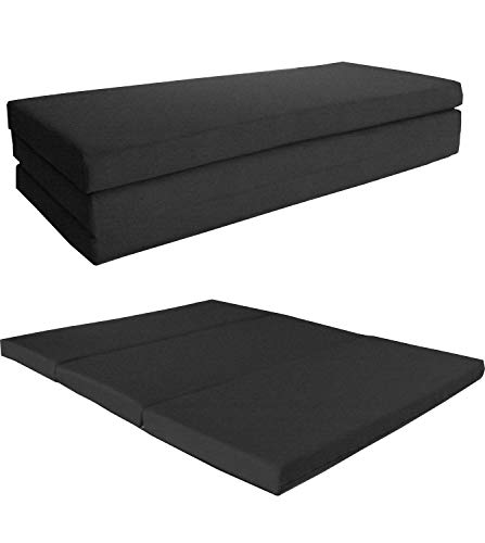(D&D Futon Furniture Black Shikibuton Trifold Foam Beds 4