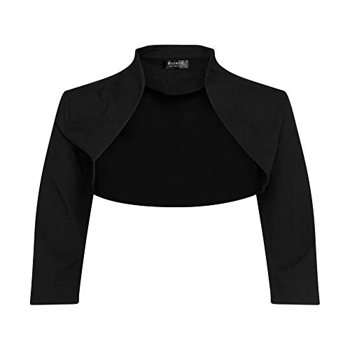 Bolerose 3/4 Sleeve Formal Tailored Bolero Shrug
