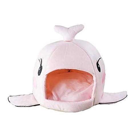 La ballena de diseños Caseta perro cama cesta perros y gatos cama con cojín perro mascota