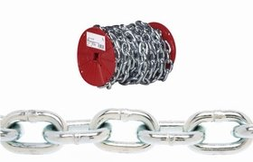 Campbell Chain Proof Coil Chain 1/4'' Zinc Plated Low Carbon Steel 65' L by Campbell