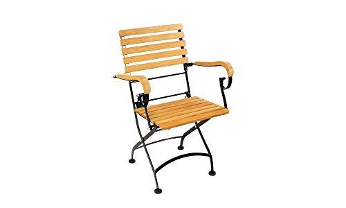 HiTeak Furniture Bistro Low Teak Armchairs with Iron Frame (Plantation Frame Teak)
