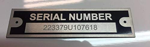 Engraved Trailer Truck Car Rat Rod Plate VIN Serial Tag Black Chevy Fits Ford Fits Dodge
