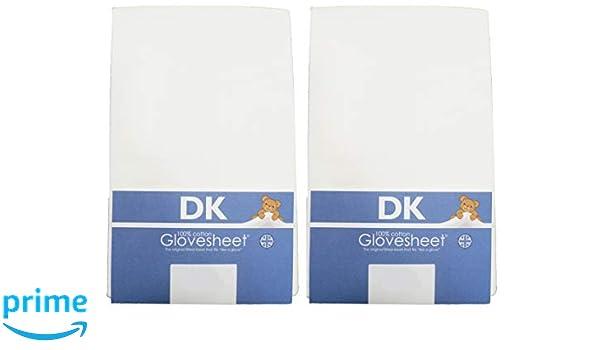 DK Glovesheets - Sábana bajera dos color blanco sábana ajustable 83 x 50 cm cuna hojas 100% peinado algodón - específicamente diseñado para adaptarse a la ...