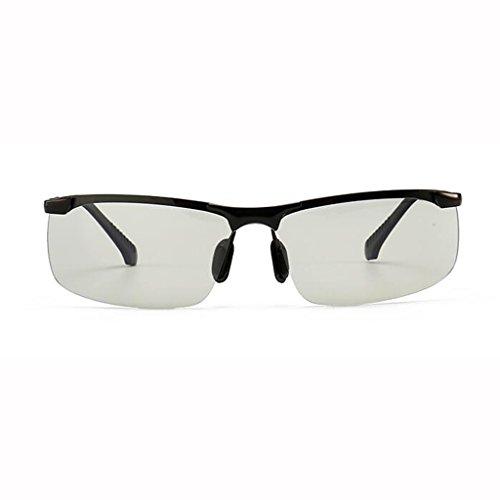 y cambian los de Gafas sol color Gafas para afluencia de hombres sol de Día de pesca 4 inteligentes gafas noche conducción conducir de Gafas que Discolored hombres Frame; Black de de Gafas C de opcionales polarizadas colores dPPv8UY6q