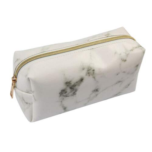 Cosmetic Bag Large Capacity Professional Make Up Bag Cosmetic Organizer Case (Color - Black Marble Texture) -