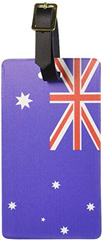 Graphics & More Australia Flag Luggage Tags Suitcase Carry-on Id, White