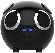 ブルートゥーススピーカー 屋外の旅行者に適したエネルギー豚のBluetoothスピーカー真のステレオサウンド 家の屋外に適しています (Color : Black, Size : 13x13x13cm)