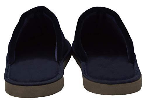 Azul Algodón Suela Para Pantuflas De Becomfy Estar Oscura Confortables Por Casa Mb51 Hombre Zapatillas Marino Ligeras Suaves n4OWqgwH