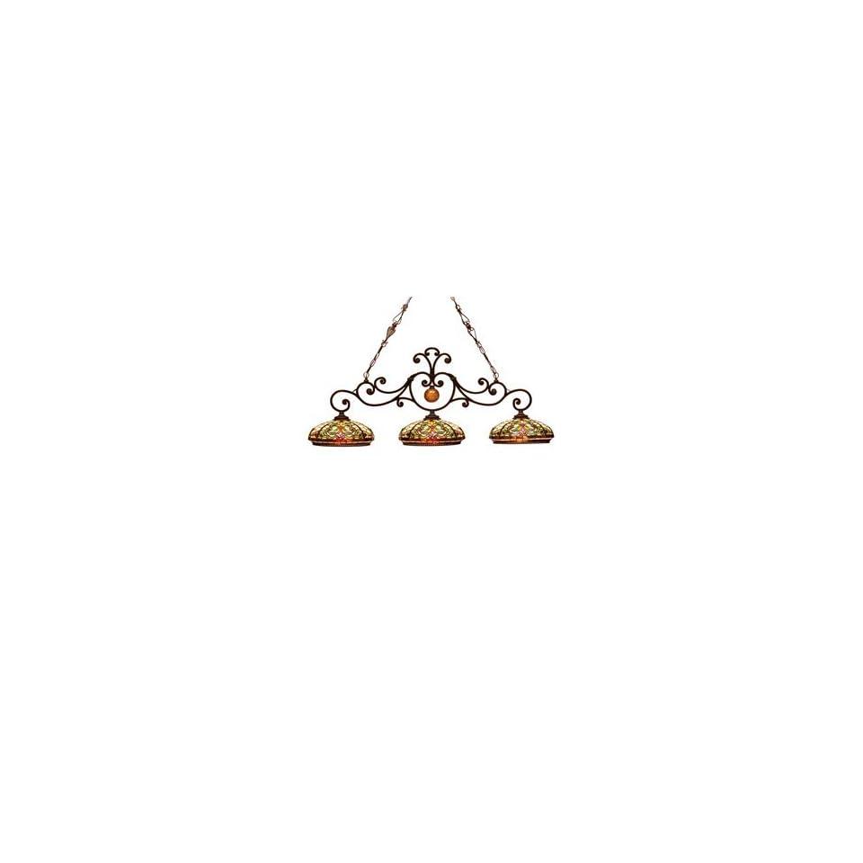Dale Tiffany TH101071 Boehme 3 Light Island Light, Antique Golden   1873726