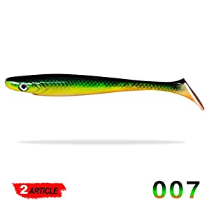 Paddle Tail Shads 20cm Soft Plastic Pike lures