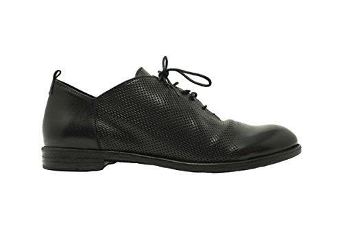 HUNDRED 100 Francesina Uomo M283-21 Scarpa Elegante Pelle Vitello Nero nero