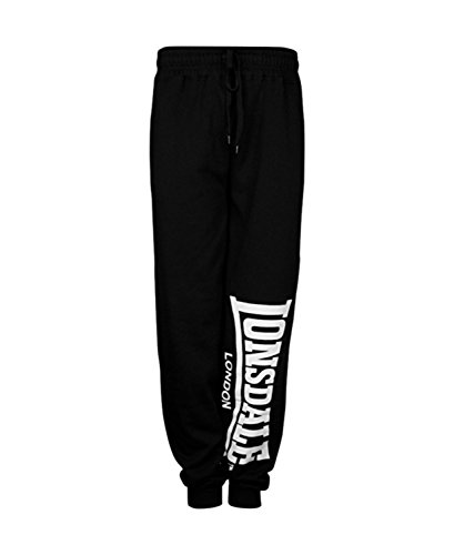 Lonsdale Men´s Logo Sweatpants Jogging Training Pants Trousers Black (Medium (M)) (Lonsdale Training)