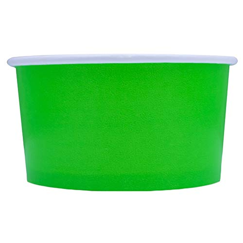 Green Easter Paper Ice Cream Cups - 6 oz Dessert Bowls - Comes In Many Colors & Sizes! Frozen Dessert Supplies - Fast Shipping! 1,000 Count ()