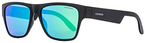 Carrera Men's 5002/st Rectangular Sunglasses, MATTE BLACK, 55 ()