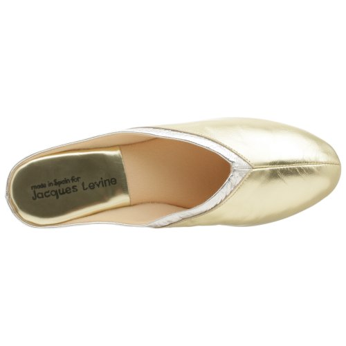 Slipper Scuff 4640 Silver Jacques Levine Throat Collar Women's White gY1xnfwqFa