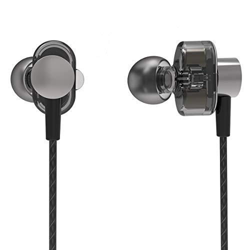 PHB in Ear Headphones Wired Earbuds, Noise Cancelling with Microphone,Ergonomic Sweatproof Earphone, Heavy Deep Bass for Mobile Games, Smartphones, Sports, Gym, Aboard and Noisy Environment