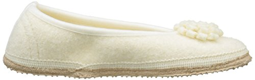 Giesswein Chaud Laubach Weiß Blanc Chaussons Femme Doublé 001 Weiss 667rq