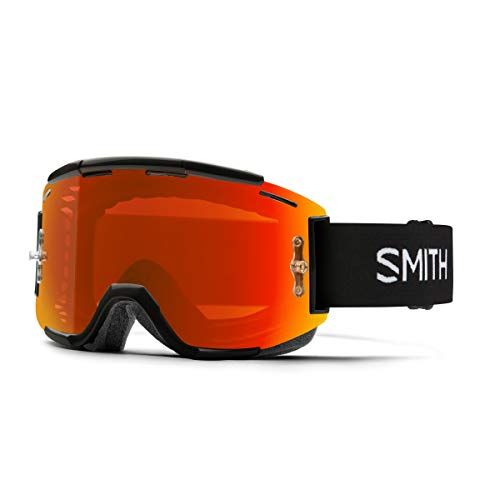 Smith Squad MTB ChromaPop Goggle Black/Everyday Red Mirror, One Size ()