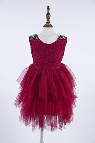 Bejeweled Tutu Dress/Red