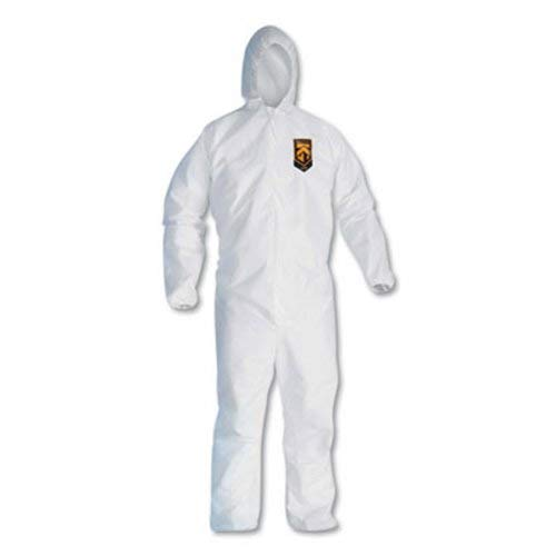 (KleenGuard 49117 A20 Elastic Back, Cuff and Ankles Hooded Coveralls, 4X-Large, White (Case of 20))