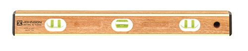 Johnson Level & Tool 524 24-Inch Brass Bound Mahogany -