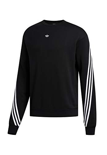 adidas Mens 3stripe Wrap Cr Pullover Sweater