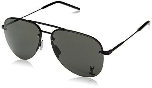 (Saint Laurent Classic 11M 001 Black Classic 11M Pilot Sunglasses Lens Category)