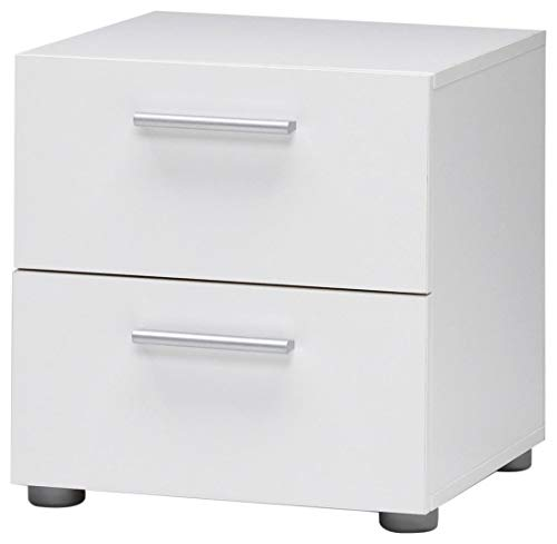 DK Furniture Austin Nightstand, White ()
