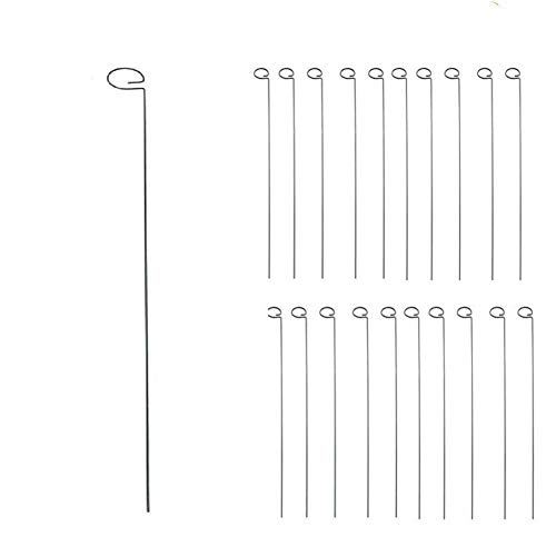 (Tingyuan 36 Inches Single Stem Plant Support Stakes Steel Garden Stakes, Pack of 20)